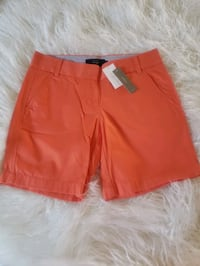 """Women's J. Crew shorts (7"""") Size 0- NEW WITH TAGS Orange, 92869"""