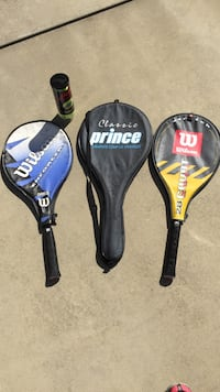3 tennis rackets and can of balls Myrtle Beach, 29588