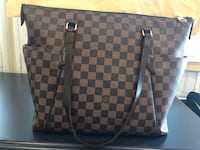 damier ebene Louis Vuitton leather handbag Dumfries, 22026