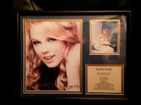 Taylor Swift framed matted picture photo info stats card
