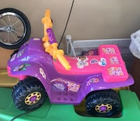 toddler's pink and purple ATV ride on toy Buda, 78610