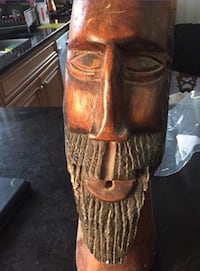 Brown wooden carved  decor