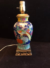 Hand painted lamp with birds Toronto, M2R 3N1