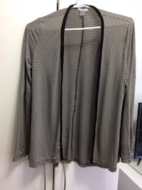 Gray and black stripe jacket excellent conditions size m from old navy Hamilton, L8V 4K6