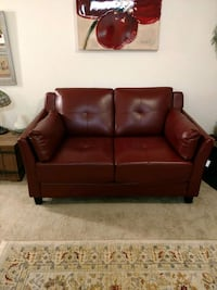 Dark Red Loveseat Mill Creek, 98012