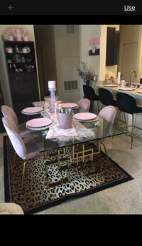 Gold/ pink Dining table