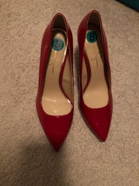 Red pumps Jessica Simpson Size 8 Leesburg, 20176