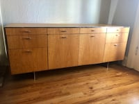 Mid century modern credenza. Steel interior, slightly blemished top. I have two of them! $600 each Denver, 80203