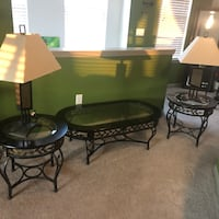 Coffee table and end tables with lamps Charlotte, 28216