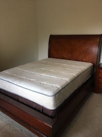 brown wooden bed frame Silver Spring, 20901