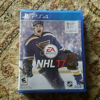 EA Sports NHL 17 PS4 Mint Condition complete $10 McElhattan, 17745