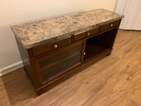 Real marble: side table, entertainment center and coffee table  Quincy