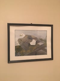 Hand painted eagle with frame  Dundas, L9H 3S3
