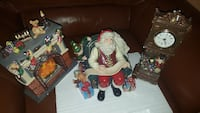 Santa glass christmas figure set