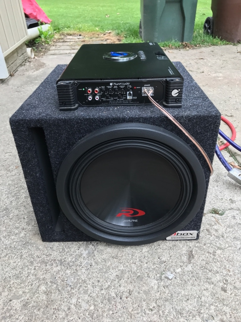 Planet Audio Capacitor Wiring Electrical Diagrams Used 12 Alpine Swr 12d2 Type R Subwoofer 5000w Amp Condenser