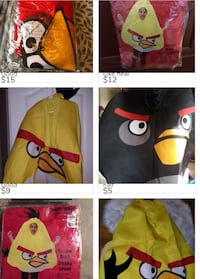 Angry birds costumes (6 different characters)  Buffalo, 14219