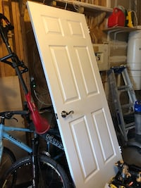 """Interior door with hardware. 32"""" wide, 79"""" height, 1.5"""" deep. Guelph, N1E 7G5"""