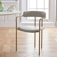 WEST ELM: (4) LENOX LEATHER Dining Chairs Costa Mesa, 92626