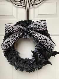 Handmade Going Batty Halloween Rag Wreath Londonderry, 03053