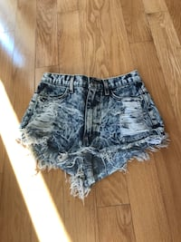 women's blue denim short shorts Vaughan, L4J 9B4
