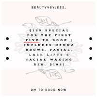 Beauty package (Lift, henna brows, facials & wax) Toronto