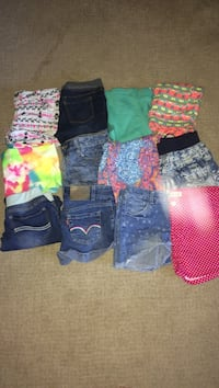 12 assorted shorts and skirts