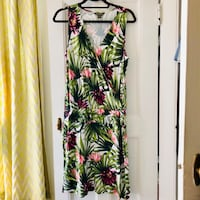 Tommy Bahama Green Tropical Leaf Dress Boston, 02114