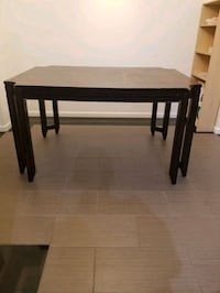 Red/Brown dining table