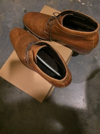 pair of brown Cole Haan leather dress shoes with box ROCKVILLE
