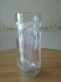 clear glass vase Two Rivers, 54241