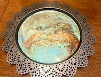 PENDING  P/U: Serving Tray, for food, drinks or candles (hand painted)