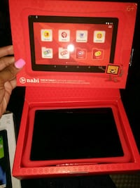 red Nabi tablet computer with box Dallas, 75243