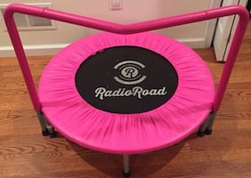 36-Inch Trampoline, with Hand Rail, Pink