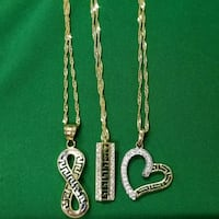 Necklace Versace heart gold 10k  Montreal
