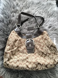 brown monogrammed Coach leather hobo bag Calgary, T2H