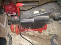 red and black air compressor