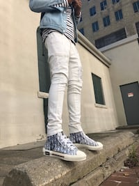 Dior Obliques Converse B23 high-top sneaker, white and black