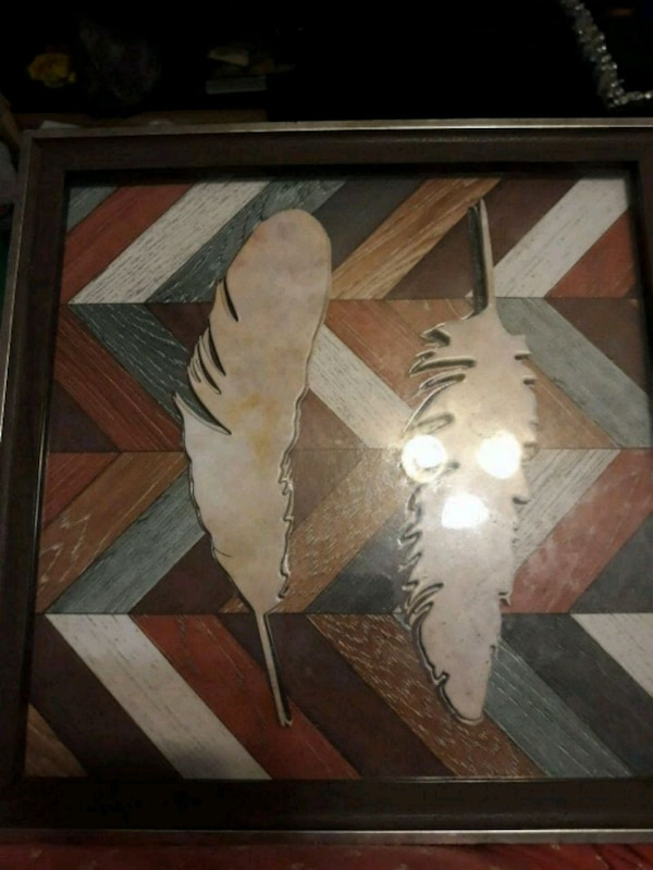 3d feather picture in frame