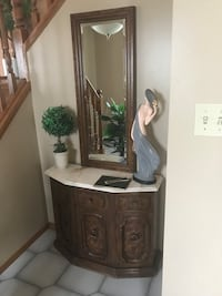 Cabinet with marble top and mirror  Edmonton, T6V 0J2