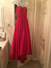 Women's red strapless formal gown Pearland, 77581