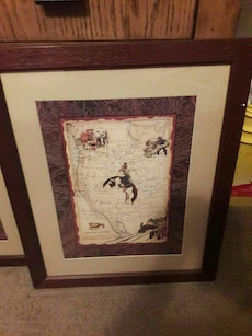 Western Theme Framed Art by Home Interiors