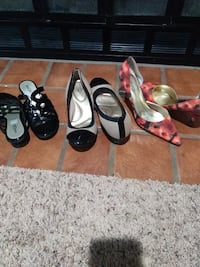 three pairs of assorted shoes Colorado Springs