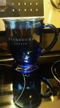 Starbucks Blue Glass Mug