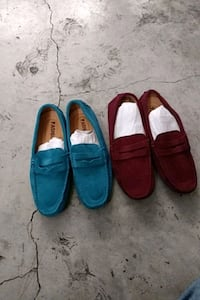 Women slip on leather shoes