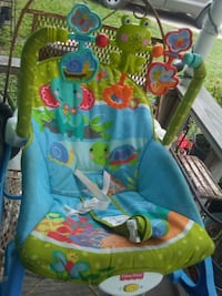 baby's green and blue bouncer Weslaco, 78596
