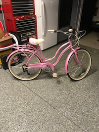 pink and white cruiser bike Simpsonville, 29681