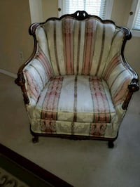 white and brown floral armchair Troy, 48098