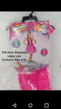 New Shopkins Lippy Lips Costume Size 4-6x Frederick, 21701