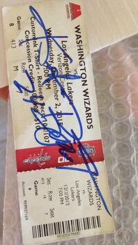 Washington Wizards admission ticket Fairfax