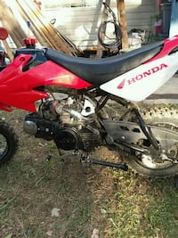 red and black Honda motocross dirt bike Rising Sun, 47040
